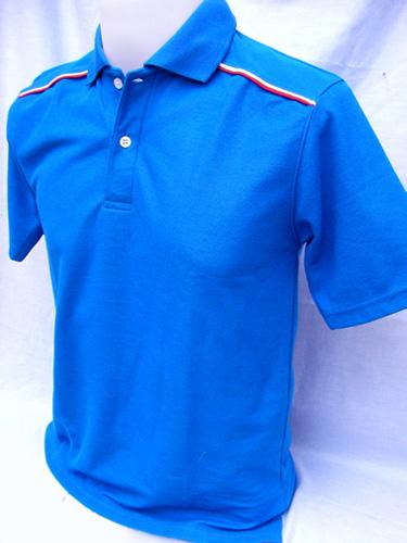 P035 เสื้อโปโลต่อไหล่กุ๊นเส้นคู่ ผลิตเสื้อโปโล โรงงานผลิตเสื้อโปโลครบวงจร เสื้อโปโลสั่งผลิต