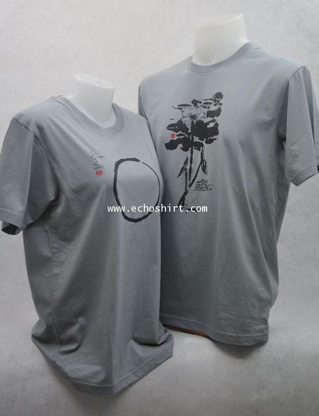 T-Shirt 019 เสื้อคอกลมพร้อมสกรีน silk screen, sublimation, heat transfer, CMYK digital print  ผลิตเส