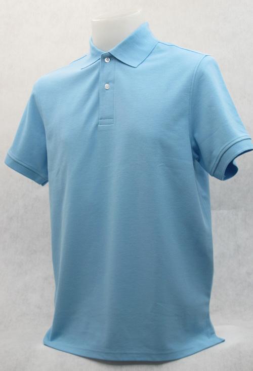 เสื้อโปโลสำเร็จรูป สีฟ้า