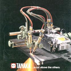 เครื่องตัดตามรางแบบ ตัด 45 องศาได้ ยี่ห้อTanaka  KT-5N II ตัดได้ 50มม. รุ่นหัวเดียว