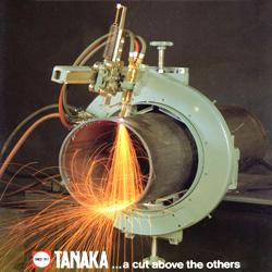 เครื่องตัดท่อแบบแก๊ส ยี่ห้อทานากะ รุ่นKT-45 ใช้ตัดท่อขนาด 6-24(นิ้ว) ตัดตามราง