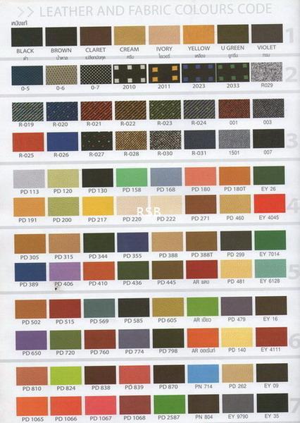 CATALOG 1 สีสำหรับเก้าอี้ หนัง  รห้ส PD CNR