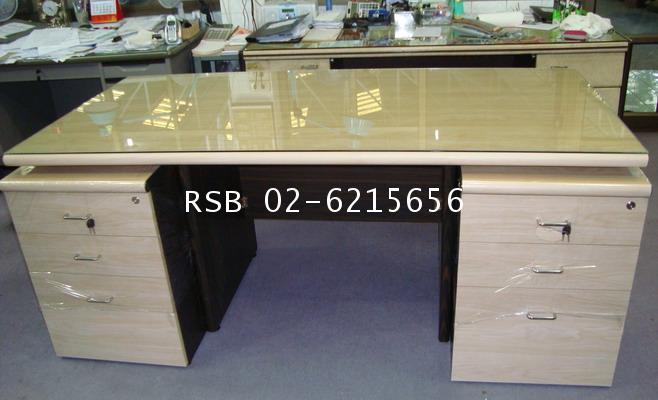 โต๊ะทำงาน โต๊ะผู้บริหาร 180 cm ลิ้นชักล้อเลื่อน 2 ลูก