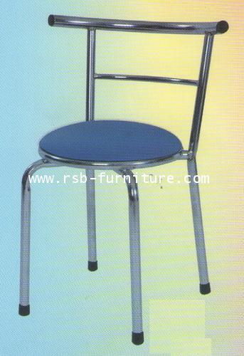 เก้าอี้ทานอาหาร โครงเหล็กเงา รหัส 554 ราคาส่ง