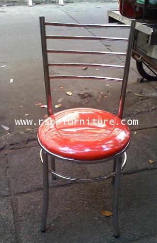 เก้าอี้ร้านอาหาร รหัส 567 โครงเหล็กเงา ราคาส่ง