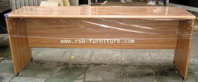 โต๊ะทำงาน โต๊ะสำนักงาน แบบโล่ง ขนาด 180 cm TOP 36 mm ผิว PVC รหัส 664