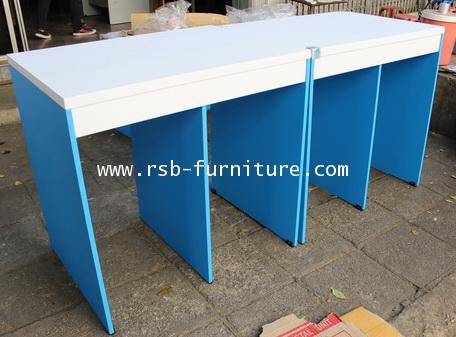 โต๊ะคอมพิวเตอร์ โต๊ะทำงาน ออกแบบโล่งยืนเข้าหากันได้ทั้ง 2 ฝั่ง