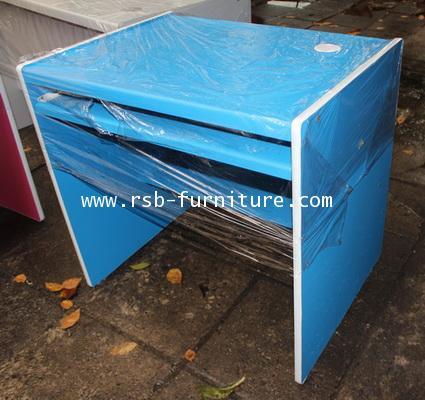โต๊ะคอมพิวเตอร์ โต๊ะทำงาน 80 cm ทำขอบที่ข้างโต๊ะ ผิว PVC รุ่นขายจำนวน ราคาขายส่ง