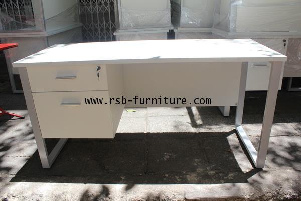 โต๊ะผู้บริหาร 2ลิ้นชัก ขาเหล็กตัวC ขนาด W150XD60CM รหัส 802