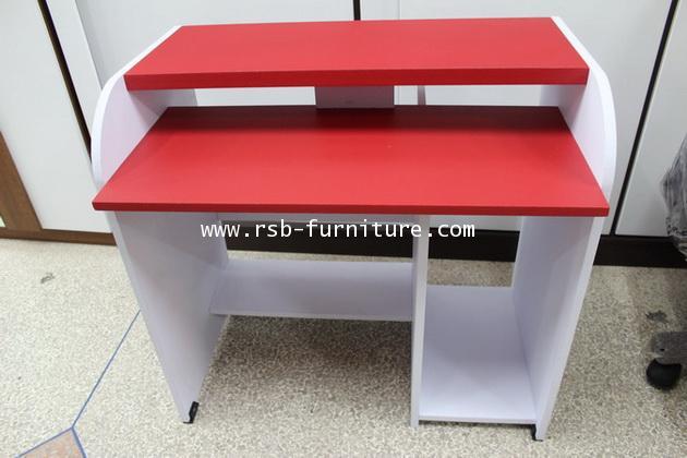 โต๊ะคอมพิวเตอร์รุ่นเปียโน ชั้นคีย์บอร์ดล็อคตาย รหัส 667 ผิว PVC รุ่นขายจำนวน ราคาขายส่ง