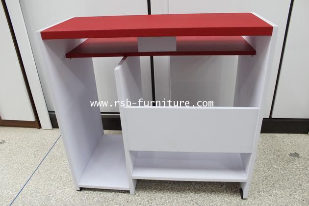 โต๊ะคอมพิวเตอร์รุ่นเปียโน ชั้นคีย์บอร์ดล็อคตาย รหัส 667 ผิว PVC รุ่นขายจำนวน ราคาขายส่ง 2