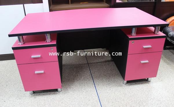 โต๊ะทำงาน โต๊ะผู้บริหาร หน้าโค้ง ลิ้นชักซ้าย-ขวา