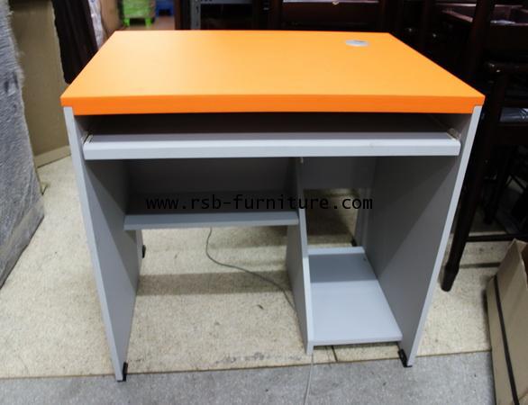 โต๊ะคอมพิวเตอร์ โต๊ะทำงาน 80 cm คีย์บอร์ด ผิว PVC รุ่นขายจำนวน ราคาขายส่ง