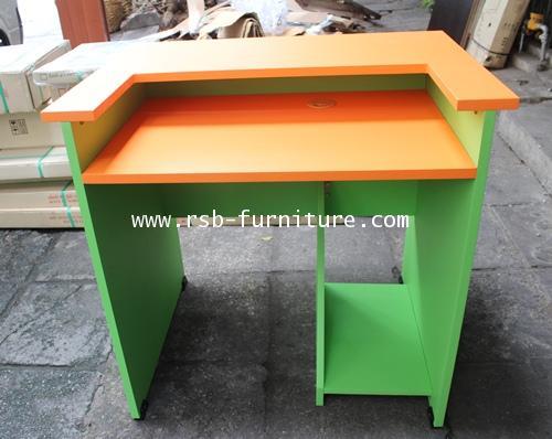 โต๊ะคอมพิวเตอร์ โต๊ะทำงาน 80 cm ชั้นคีย์บอร์ดยึดตาย ผิว PVC รุ่นขายจำนวน ราคาขายส่ง