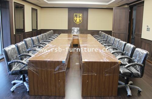 โต๊ะประชุมตัวต่อทรงตัวยู W615XD180CM จำนวน 18-24 ที่นั่ง รหัส 936