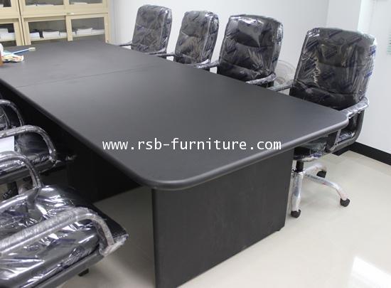 โตีะประชุม ทรงเหลี่ยม จำนวน 8-12 ที่นั่ง ขนาด 320 cm ขอบมนหนา 36 mm