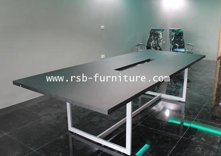 โต๊ะประชุมขาเหล็ก W240XD120 CM 6-8 ที่นั่ง โครงเหล็กเชื่อมพิเศษ รหัส 1031