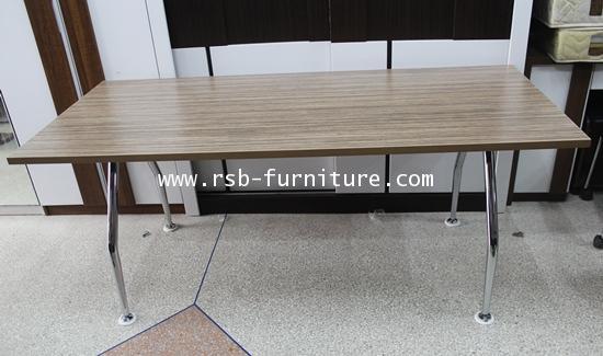 โต๊ะผู้บริหาร  150 cm ขาเหล็กตัว V  ปิดผิวลามิเนต