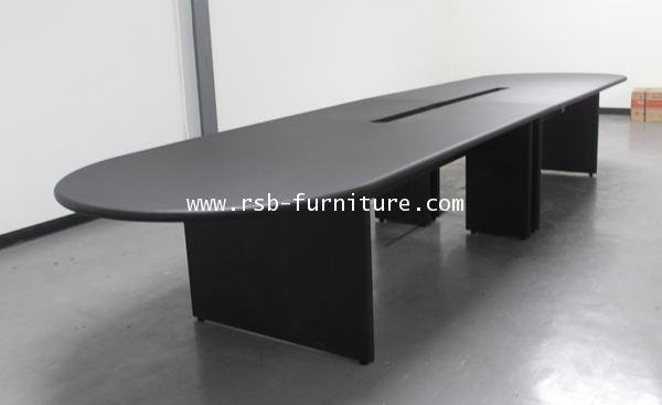 โต๊ะประชุม ตัวต่อ 10-14 ที่นั่ง 400 CM ขอบมนหนา 36 MM ปิดผิวPVC รหัส 1052