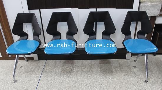 เก้าอี้แถวสำนักงานพนักพิงรูแชมเปญ มี 2-4 ที่นั่ง รหัส 1059