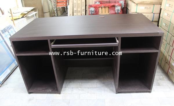 โต๊ะคอมพิวเตอร์ โต๊ะทำงาน  ขนาด 150 cm ทำชั้นวางเต็มถึงพื้น