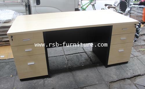 โต๊ะผู้บริหาร W180XD90CM ลิ้นชักเต็มถึงพื้น รหัส 1131
