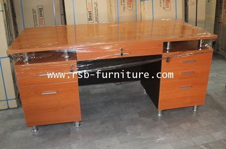 โต๊ะทำงาน โต๊ะผู้บริหาร  ขาเหล็กแท่ง 180 cm