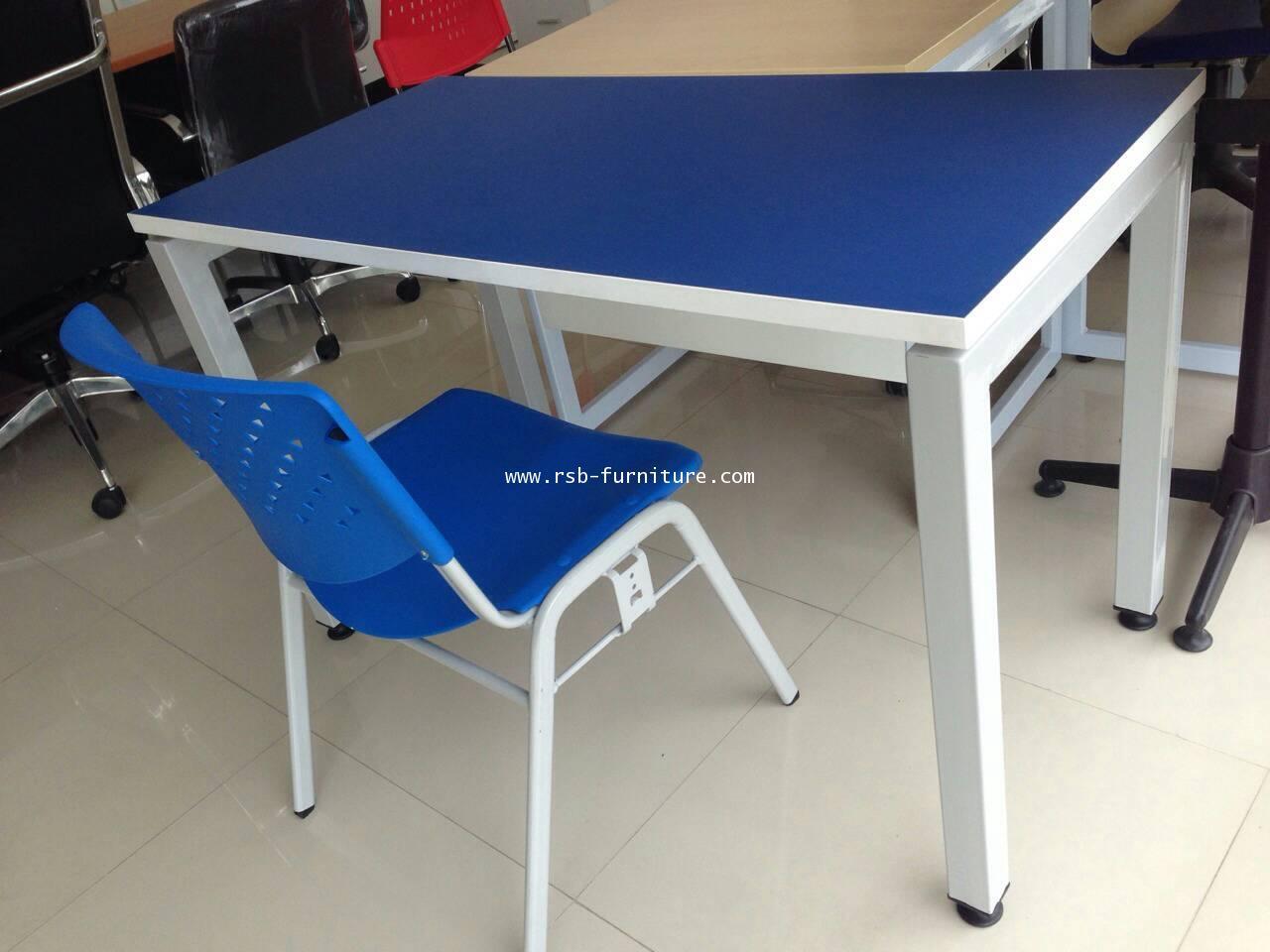 โต๊ะทำงานขาเหล็กกล่องหนา W150XD100XH75CM CM รหัส 1195