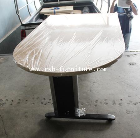 โต๊ะผู้บริหาร โต๊ะทำงาน 150 cm สั่งทำหัวมนและเหลี่ยม สลับกัน