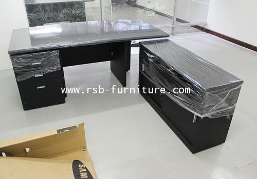 โต๊ะผู้บริหาร โต๊ะทำงาน 170 cm TOP หนา 36 mm มีชุดลิ้นชักล้อเลื่อน