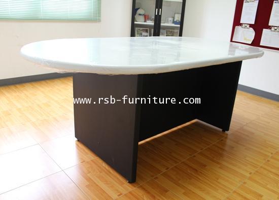 โต๊ะประชุมทรงรี TOP MDF PVC 4-6 ที่นั่ง W180XD100 CM ทำ FRONTบังหน้าพิเศษเต็มถึงพื้น รหัส 1251