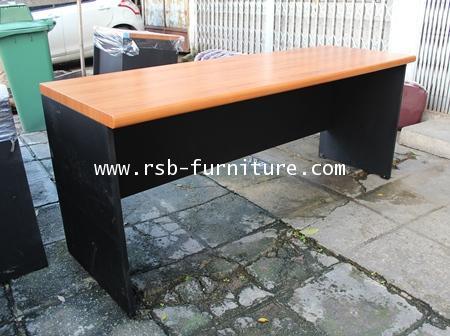 โต๊ะคอมพิวเตอร์  แบบโล่ง 200 cm นั่ง 3 ที่นั่ง ขอบมนหนา 36 mm ผิว PVC