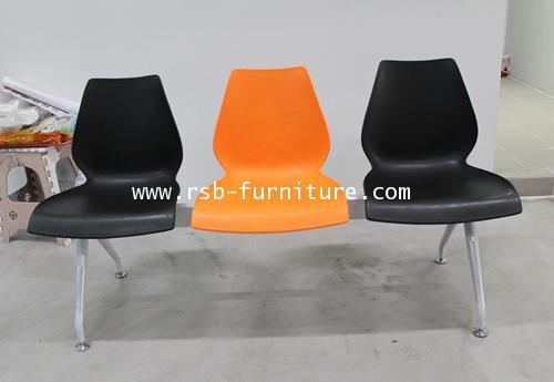 เก้าอี้แถว โพลีเกรดA ขาเหล็กพ่นเทา งานดีไซน์ 2-4 ที่นั่ง รหัส 1341