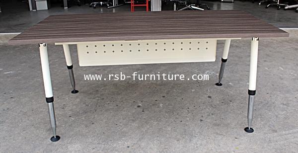โต๊ะทำงานผู้บริหาร 180 cm แผ่นบังหน้า เหล็กปั๊มรู