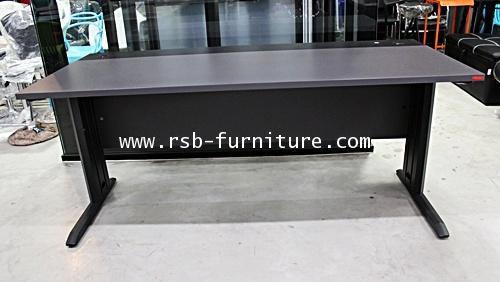 โต๊ะทำงาน W180 x D80 cm  ขาเหล็กพ่นสีดำ