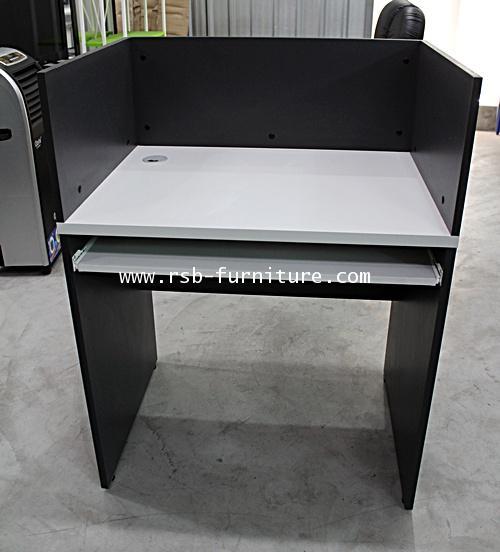 โต๊ะคอมพิวเตอร์ CALL CENTER ฉากบังข้าง 3 ด้าน W80XD60XH75-105CM รหัส 1549