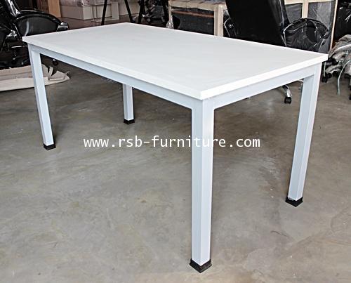 โต๊ะทำงานขาเหล็กกล่องหนา W150XD100XH75CM CM รหัส 1552