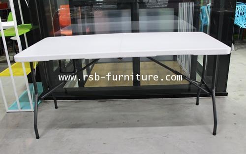 โต๊ะพับอเนกประสงค์ ขนาด 152*71 cm แบบพับครึ่ง