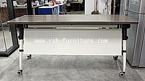 โต๊ะพับอเนกประสงค์ พับเก็บได้ มีล้อ 160 / 180 cm งานดีไซน์