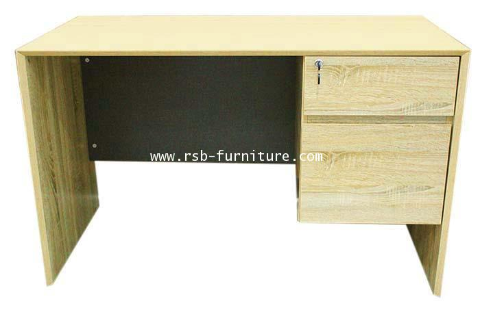 โต๊ะทำงาน W120XD60 CM ทำขอบหลบใน รหัส 1675