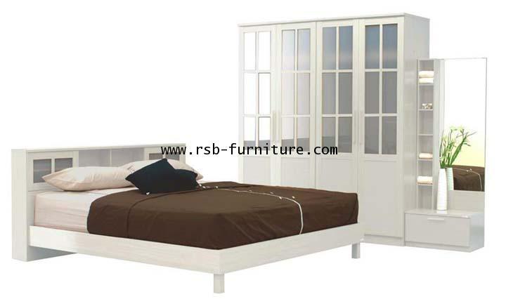 ชุดห้องนอนเน็คต้า เตียงมีทั้ง 5,6 ฟุต ตู้เสื้อผ้า 180 cm 4 บานประตู ราคาพิเศษ