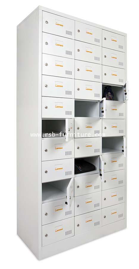ตู้ล็อคเกอร์เหล็ก 33 ช่อง พร้อมกุญแจล็อค (LK33KN, TAIYO) รหัส 1729