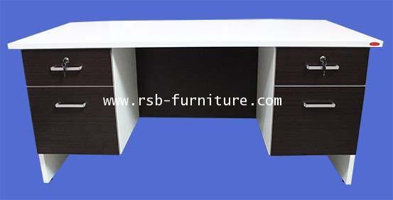 โต๊ะสำนักงาน 160 cm ลิ้นชักซ้าย ขวา รหัส 1746