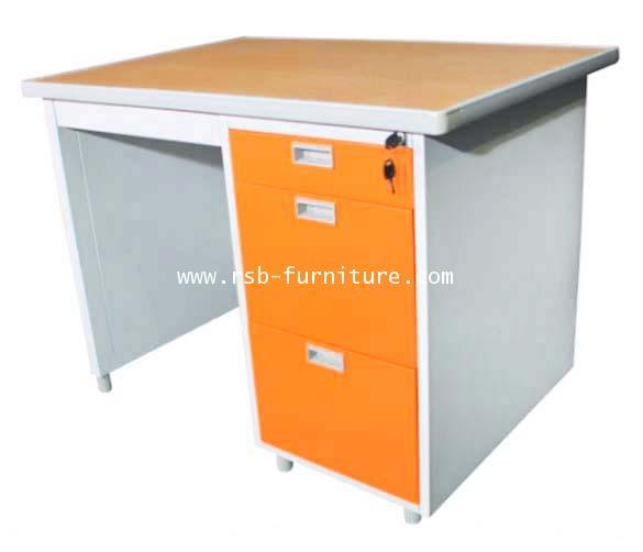 โต๊ะทำงานเหล็ก LUCKYWORLD 100 CM และ 120CM (DP-35-3 และ DP-40-3) รหัส 286