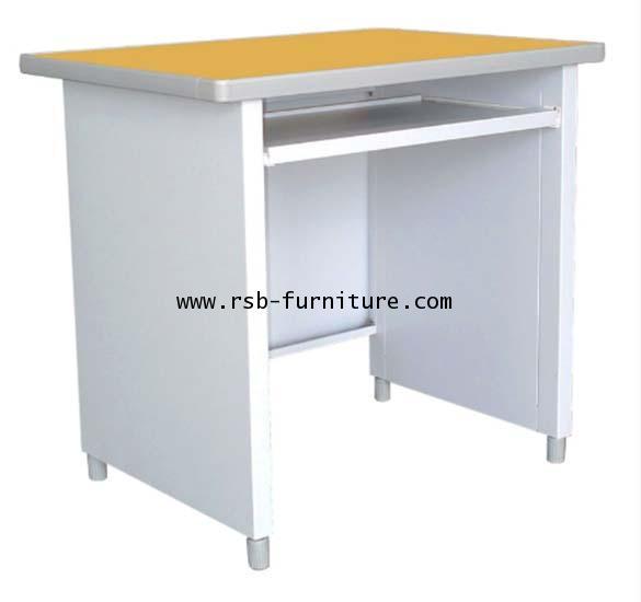 โต๊ะคอมพิวเตอร์เหล็ก LUCKYWORLD หน้าโต๊ะ PVC 80 CM รหัส 1063 (KCP-590C-TG) ราคาพิเศษ