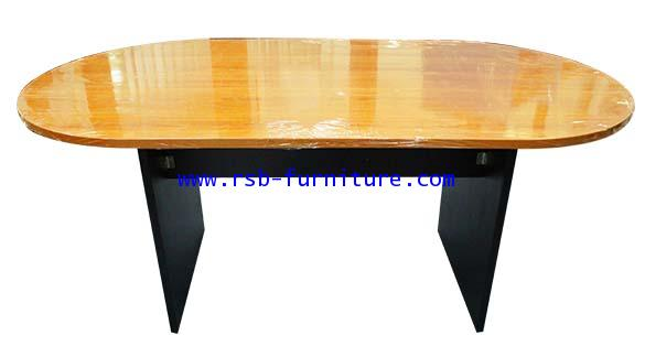 โต๊ะประชุมทรงแคปซูล ขาไม้ มีขนาด 180/200/240 CM รหัส 945