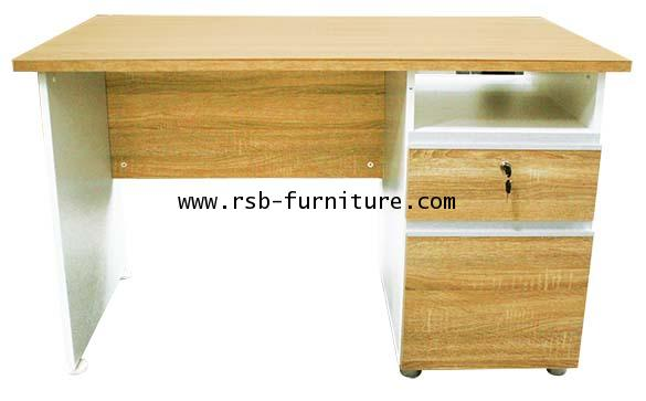 โต๊ะทำงานตู้ลิ้นชักขวา เมลามีนสีพิเศษZONO รหัส 1782
