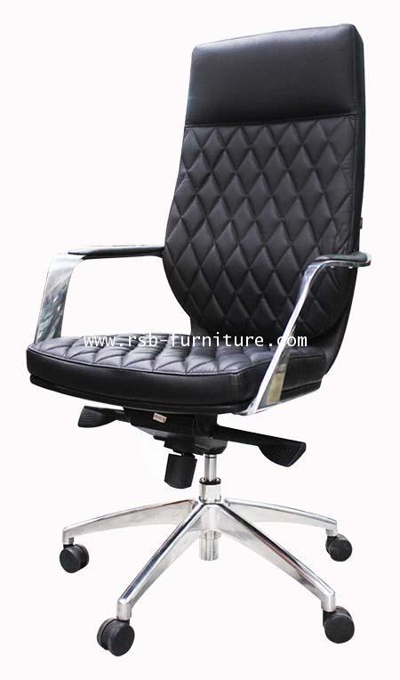 เก้าอี้ผู้บริหารพนักพิงสูง หนังแท้อิตาเลียน รหัส 1956
