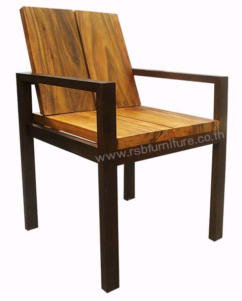 เก้าอี้ไม้จริงงานดีไซน์