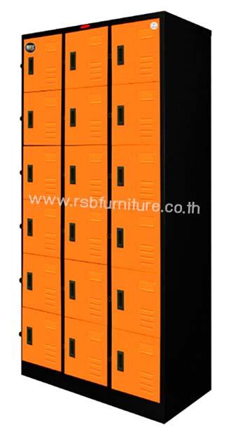 ตู้ล็อคเกอร์18ประตู รุ่นPPK-018 ขนาด W91.4XD45.7XH182.9CM รหัส 2006